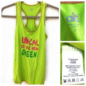"""ALO Yoga """"Local Is The New Green"""" Tank Top"""